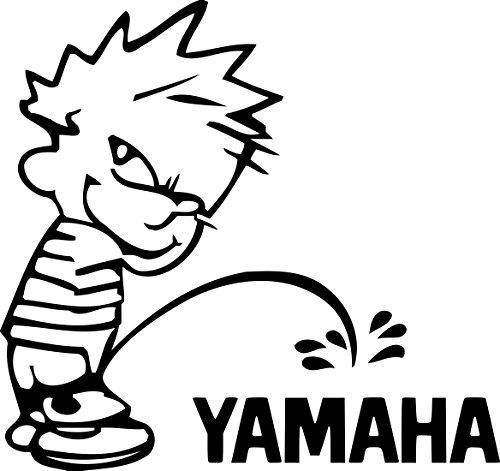 Calvin Peeing on Yamaha