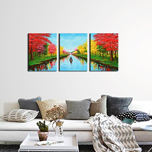 JoyArt - Red Trees Painting 4 Seasons Canvas Prints Artwork on Canvas Framed Wall Art for Home ...  sc 1 st  Anna Linens & JoyArt - Red Trees Painting 4 Seasons Canvas Prints Artwork on ...