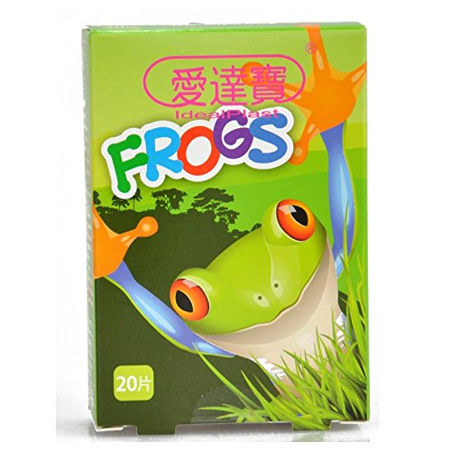 Pack of 60pcs Assorted Breathable Waterproof Cartoon Frogs Adhesive Bandages Hemostasis Band Aid for Children Kids