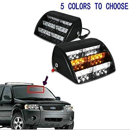 Vehicle Strobe Lights >> Amazon Com Heinmo 18 Led Emergency Vehicle Strobe Lights