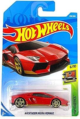 international Card Orange Hot Wheels Exotics: Lamborghini Aventador J 2019
