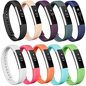 AK for Fitbit Alta Bands/Fitbit Alta HR Bands (10 Pack), Replacement Bands for Fitbit Alta/Alta HR(10colors, Small)
