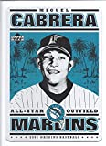 "MIGUEL CABRERA 2005 Upper Deck Origins 5"" x 7"" Nostalgic Sign Florida Marlins Baseball"