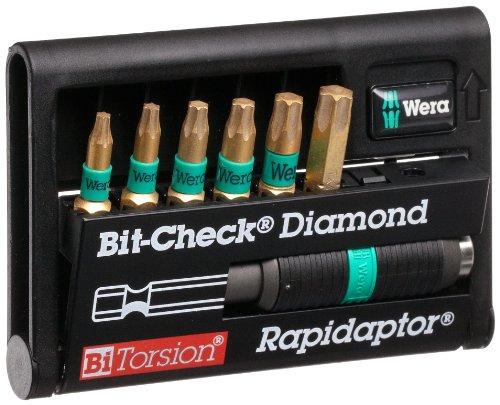 Wera BiTorsion 8767-6 BDC Diamond Coated Bit Set