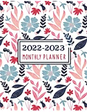 2022-2023 Monthly Planner: 2-Year Monthly Planner Calendar 2022-2023   24 Months Calendar and Appointments book 2022-2023   2 Year Monthly Planner Calendar Schedule Organizer January 2022 to December 2023   Blue Flower Cover.