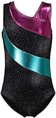 Julytech Gymnastics Leotards Girls LeotardsBallet Shining Dance Wear one-Piece Great Gifts for Student School