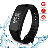 TODAY 80% off - Fitness Tracker - Smart Watch Activity Sports Tracker with Pedometer Blood Pressure Monitor Heart Rate Blood Oxygen Sleep Monitor Calorie Step Counter SMS Reminder Smart Bracelet Band