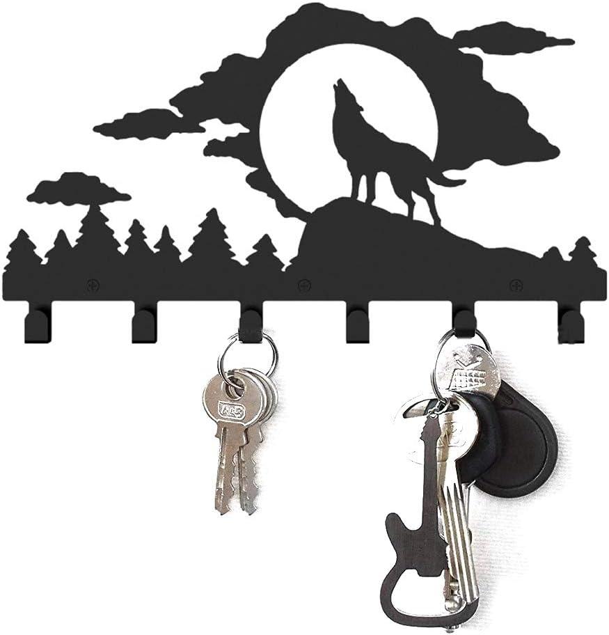 Demana Key Holder Wall Mounted Wall Hooks Coat Rack Metal Organized Hanging Key Rack Style 1