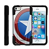america phone case - Apple iPhone SE case, iPhone 5 Case , iPhone 5s Cover Hybrid Dual Layer Case with Kickstand STRIKE IMPACT Heroes and Superhero | Miniturtle - America Shield Hero
