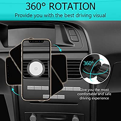 Clip Car Phone Mount Miracase Upgrade 2 in 1 Magnetic Air Vent Phone Holder for Car Designed for Cell Phone Compatible with iPhone X Xs Max XR 8 Plus 7 Plus Galaxy S20 S10 S9 Google