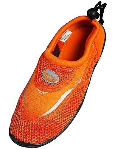 The Wave - Ladies Aqua Shoe, Orange 37110-10B(M)US