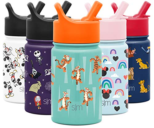 Simple Modern 10oz Disney Summit Kids Water Bottle Thermos with Straw Lid - Dishwasher Safe Vacuum Insulated Double Wall Tumbler Travel Cup 18/8 Stainless Steel - Disney: Tigger