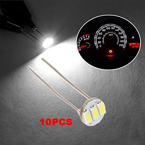 Partsam 10PCS White Instrument Panel LED Lights Gauge Cluster Indicator Bulbs for GM GMC (Led Backlight Bulb compare prices)