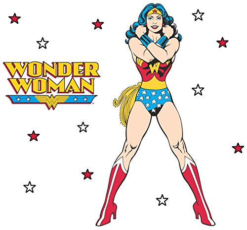 Roommates Rmk2397Gm Classic Wonder Woman Peel And Stick Giant Wall Decals, 1-Pack (Woman Vinyl Wonder)