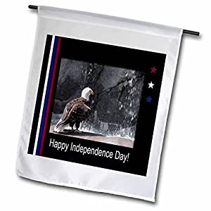 Beverly Turner Independence Day Design - Independence Day, Eagle by Waterfall - 18 x 27 inch Garden Flag (fl_40493_2)