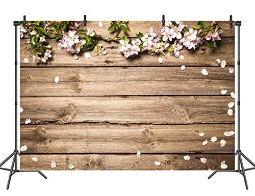 Sensfun 7x5ft Rustic Wedding Flowers Backdrop Party Decoration Wood Photo Booth Backdrops Banner Studio Props Photography -