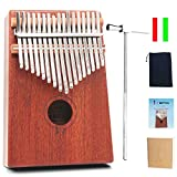 MOTYYA Kalimba 17 Key Thumb piano, Mbira 17 Tone Finger Piano Portable Musical instrument Toys Solid Sapele Body with Tune Hammer/Bag for Music Lovers Beginners and Gift Idear