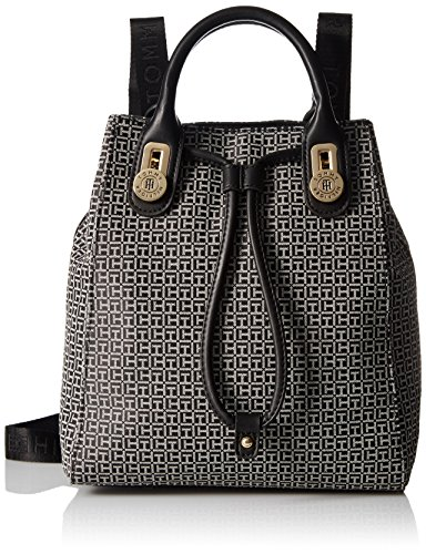 Tommy Hilfiger Backpack for Women Elaine, Black/White