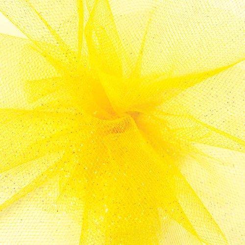 - Offray Berwick 6'' Wide Craft Tulle Ribbon Spool, 25 Yards, Daffodil Yellow Glitter