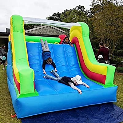YARD Inflatable Obstacle Course w/ Heavy Duty Blower 0.4mm Vinyl Bouncing Floor Indoor Outdoor Large Bounce House Slide Climbing Wall Combo 6 in 1: Toys & Games