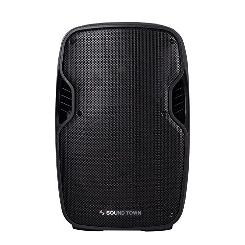 Sound Town 12-inch 2-Way Powered Portable PA/DJ Speaker with DSP/LPF/Bluetooth/USB/SD Card Reader/FM Radio (PHOBOS-12PSD) by Sound Town