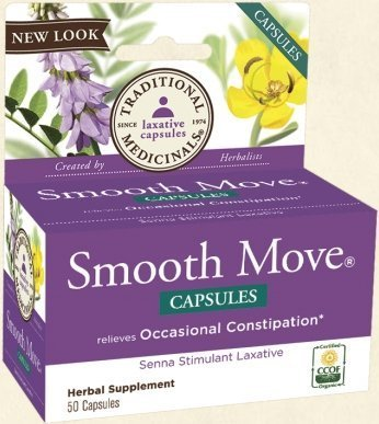 Traditional Medicinals Smooth Move Senna Capsule - 50 per pack -- 3 packs per case. by Traditional Medicinals (Smooth Capsules Move)