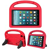 Kids Case for New Fire 7- TIRIN Light Weight Shock Proof Handle Kid –Proof Cover Kids Case for Amazon Fire 7 Tablet (5th Generation, 2015 Release and 7th Generation, 2017 Release),Red