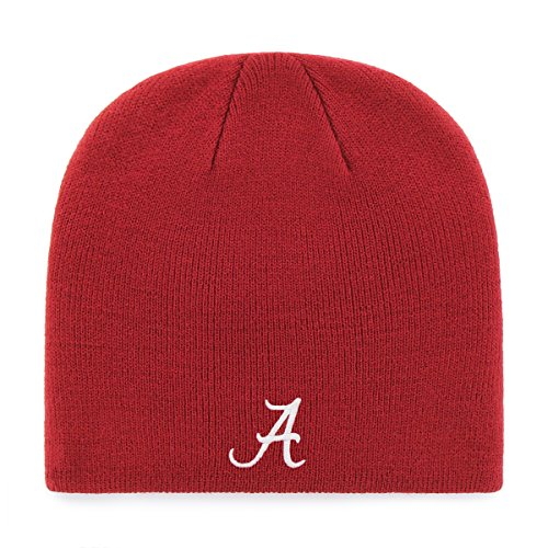 OTS NCAA Alabama Crimson Tide Men's Beanie Knit Cap, Team Color, One Size (Alabama Beanie Hat)