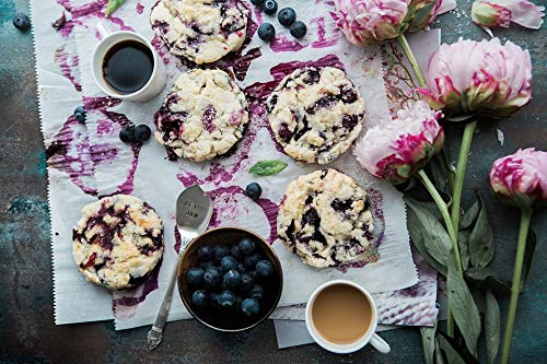 (Home Comforts Peel-n-Stick Poster of Blossom Blueberries Bloom Bowl Black Coffee Poster 24x16 Adhesive Sticker Poster Print)