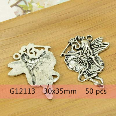 Fairy, Angel, Goddess Shaped Alloy DIY Christmas, Religion Charm Pendants Accessories Findings   Antique Silver -