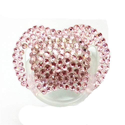 - Dollbling Custom Unique Sparkle Pink Rhinestones Crystals Baby Pacifier,1PC (Pink)