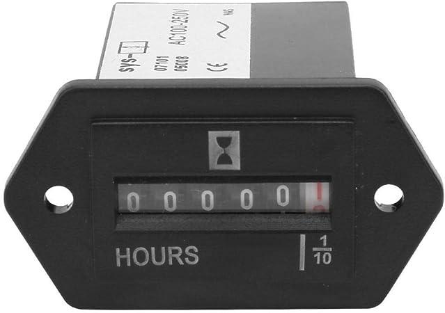 Liukouu 1pcs SYS-1 AC100-250V Compteur Industriel m/écanique Compteur horaire /électrom/écanique