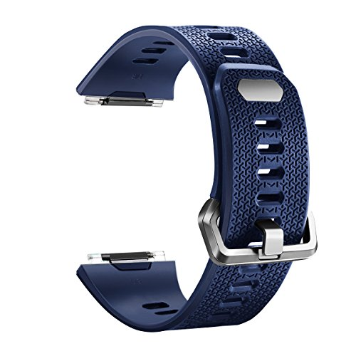 For Fitbit Ionic Bands, bayite TPU Sport Straps Accessory Replacement for Fitbit Ionic Smart Fitness Watch Women Men Navy Blue Small