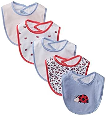 Amazon Com Rene Rofe Baby Baby Girls Ladybug 5 Pack Bib
