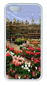 Brussels, Belgium Custom iPhone 5s/5 Case Cover TPU White Christmas gift by mcsharks