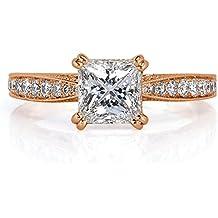 Mark Broumand 1.59ct Princess Cut Diamond Engagement Ring