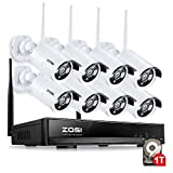 [Better Than 720P] ZOSI 960P AUTO-Pair WIRELSS System 8Channel 960P/1080P HD Wireless NVR kit with 8X 960p HD 1.3MP Outdoor Waterproof Wireless IP Security Cameras 1TB HDD