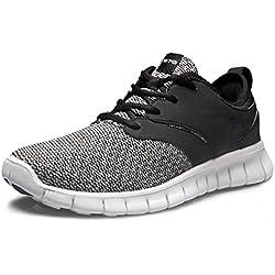 TF-X574-BLK_Men 10 D(M) Tesla Men's Knit Pattern Sports Running Shoes X574 ( True to Size )