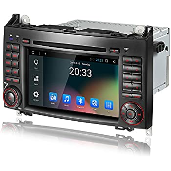 Amaseaudio Android 7.1 Double 2 Din Car In Dash DVD Player GPS Navigation System for Benz W169 W245 W906
