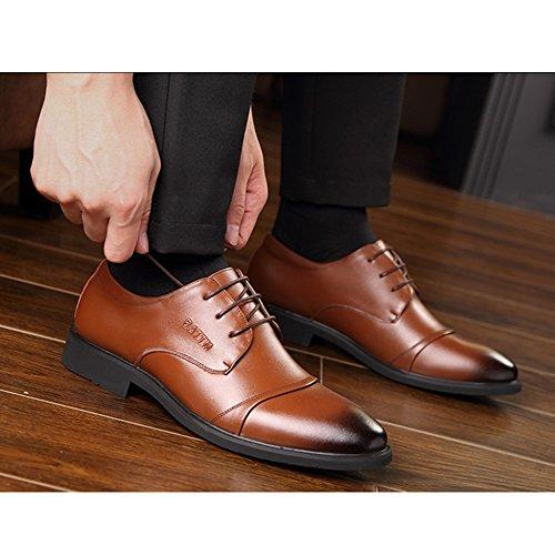 Yra Été Hommes Business Suit Chaussures D'affaires En Cuir Noir Respirant Dentelle Casual Tip Chaussures Pour Hommes En Plein Air À Pied Parti C ZvrVFuMxl
