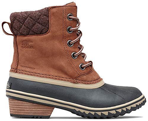 Sorel Women's Slimpack Lace II Snow Boot, Burro, Cattail, 7 M US