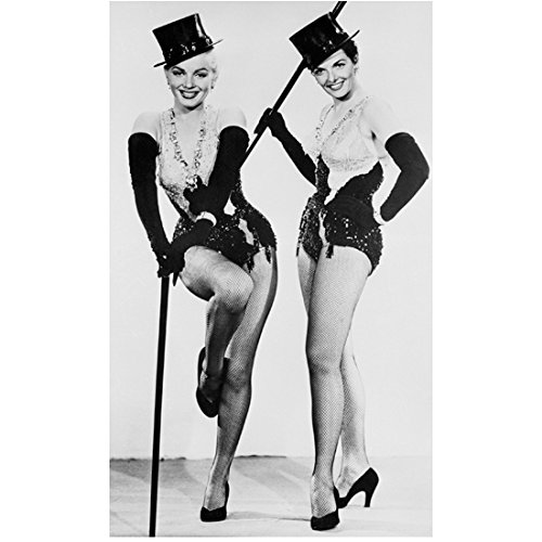 Marilyn Monroe with Jane Russell Ready to Dance as Showgirls 8 x 10 Inch Photo