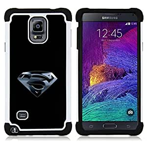 - Superhero S - - Doble capa caja de la armadura Defender FOR Samsung Galaxy Note 4 SM-N910 N910 RetroCandy