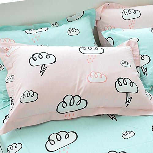 48*74cm Silky Pillow Cover Comfortable Pillowcase Blue - 7