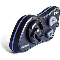 LEXIN FT4 intercomunicador casco moto, intercomunicadores moto bluetooth con FM, manos libre moto intercomunicador, comunicador moto para 4 moteros, auriculares bluetooth moto cancelación de ruido