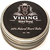 Beard Balm – Organic 100% All Natural Beard Care Conditioner, Bees Wax, Jojoba, Argan Oil+Mango Butter - Style, Moisturize & Soften Mustache Hair - Best hold for Shaping, Grooming, Styling & Growth+Thickener - Citrus Fragrance Gift for Men - 2oz