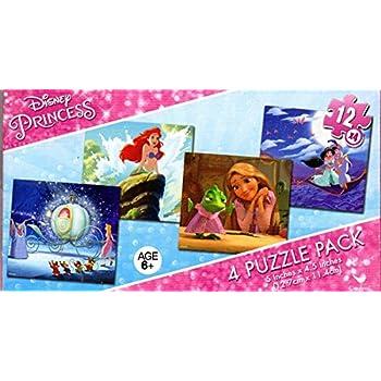 Amazon.com: Disney Princess - 4 Puzzle Pack - 12 Piece ...