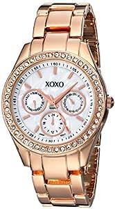 XOXO Women's XO5386  Rhinestone-Accented Rose Gold-Tone Dress Watch