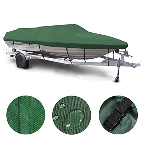 Roadstar Boat Cover Heavy Duty 600D Marine Grade oxford fabric Trailerable Waterproof Fit for 16-18ft Length 95