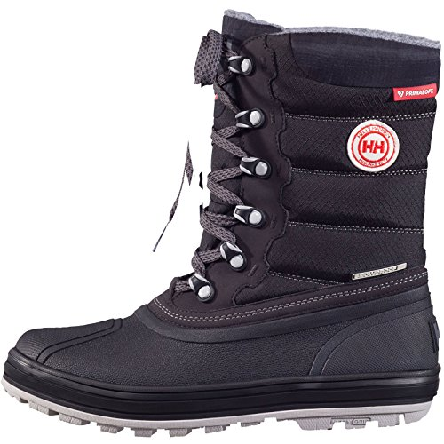 Helly Hansen Women's Tundra Cold Weather Boot Snow, Jet Black/Charcoal/ANG, 9.5 M US -  11232-991